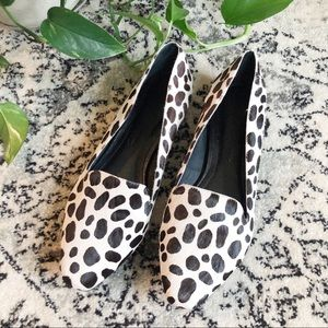 "Elizabeth and James ""Grace"" Snow Leopard Loafers"